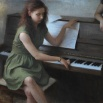 conversation by the piano-oil-2011-65x45cm