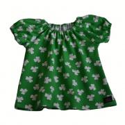 Singoallaklänning grön klöver