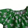 Stina singoallaklänning grön klöver