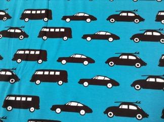 Burken mössa svarta bilar på blå botten - Burken svarta bilar, blå stl 48