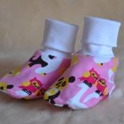 Tossor baby rosa m bokstäver