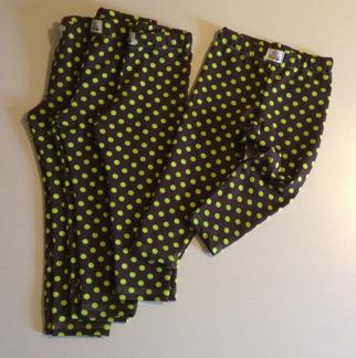 Kurre leggings bruna med lime prickar - Leggings bruna m lime prick stl 68