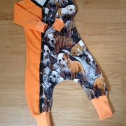 Baggydress Toker bulldog´s orange el lila