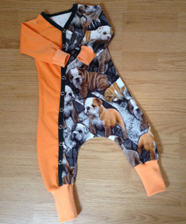 Baggydress  bulldog´s orange el lila - Toker bulldog orange stl 68