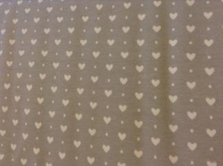 Body med omlott till baby grå med vita hjärtan - Body omlott grå med vita hjärtan stl 50