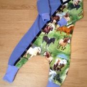 Baggydress hästar lila