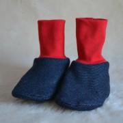 Tossor baby jeansjersey, röd