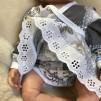 Bodyklänning till baby romantiskt mönster