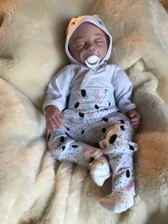 Byxor baby med prickar ekologiskt tyg - Byxor prickar stl 62