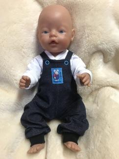 Hängslebyxor och tröja till Baby Born - Hängslebyxor och spöktröja