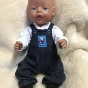 Hängslebyxor och tröja till Baby Born