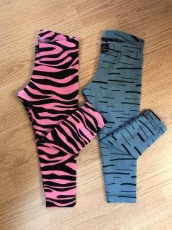 Leggings med djurmönster Ekologiskt tyg - Blå leggings stl 86