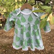 Bodyklänning päron ekologisk bomull