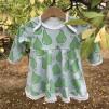 Bodyklänning päron ekologisk bomull - Bodyklänning päron stl 74