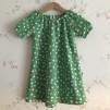 Singoallaklänning grön med prick ekologisk bomull - Singoalla grön m prick stl 110