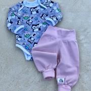 Babybyxor ekologisk bomull rosa eller ljusblå
