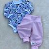 Babybyxor ekologisk bomull rosa eller ljusblå - Babybyxor ljusrosa stl 74