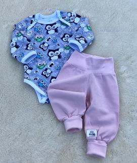 Babybyxor ekologisk bomull rosa eller ljusblå - Babybyxor ljusrosa stl 56