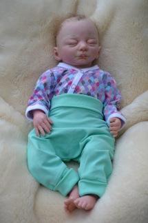 Babybyxor mint ekologiskt tyg - babybyxor mint ekologisk 50-56