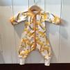 Baggydress ekologisk bomull med giraffer - Baggydress giraffer stl 62