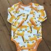 Ekologisk babybody med giraffer - Babybody med giraffer stl 74