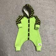 Overall ärtgrön med prickar Baby Born