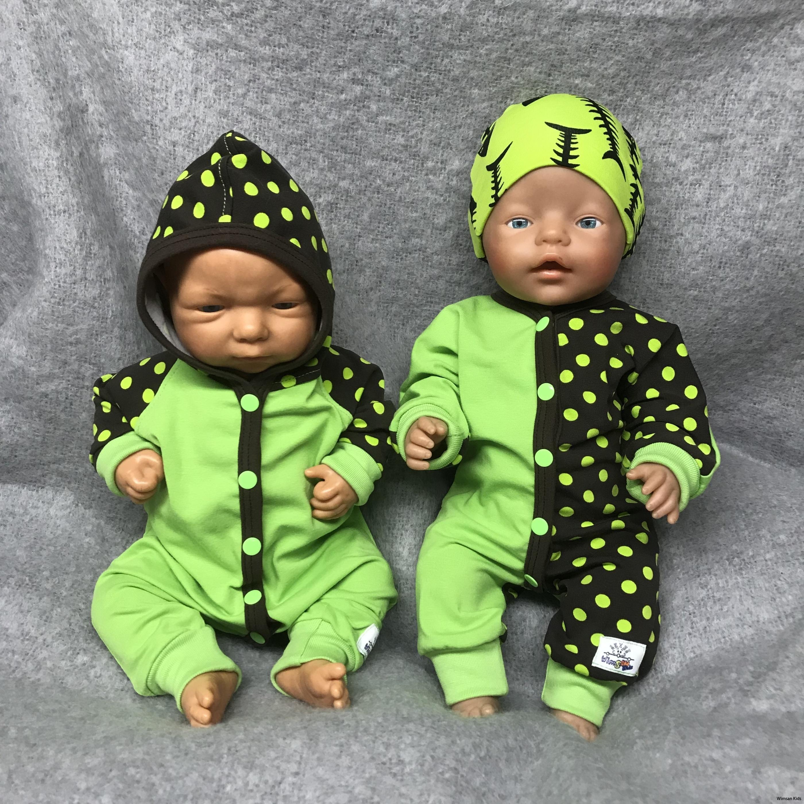 Clownoverall grön dockkläder