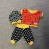 T-shirt, byxor och mössa verktyg prickar 43 cm - T-shirt byxor mössa verktyg prick 43 cm docka