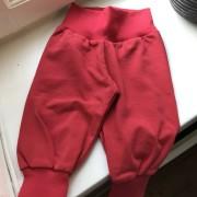 Babybyxor  röd ekologisk bomull