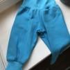 Babybyxor  turkosa ekologiskbomullstrikå