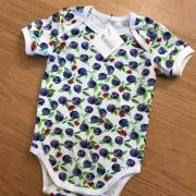 Babybody kortärmad m blåbär