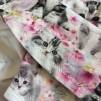 Bodyklänning ekologisk bomull med katter