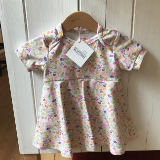 Bodyklänning ekologisk bomull med blommor - Bodyklänning m blommor stl 62