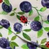 Bodyklänning ekologisk bomull med blåbär