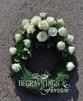 Krans vita rosor - Vita rosor (enligt bild)