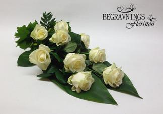 Begravningsbukett rosor