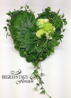 Bladhjärta - Limegrönt med fjäril (enligt bild)