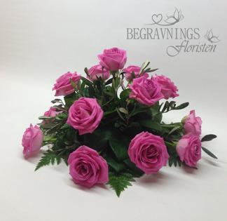 Runt arrangemang rosor - Rosa (enligt bild)