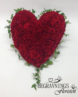 Hjärta av kvistrosor - Röda (enligt bild)