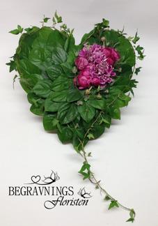 Hjärta - Rosa dekoration