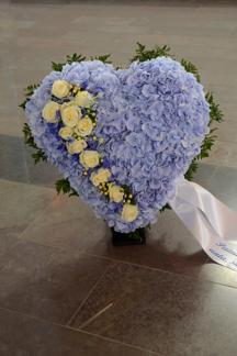 Hjärta - Blå hortensia (enligt bild)