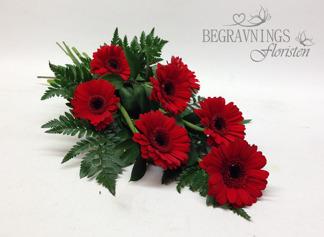 Begravningsbukett - Röda (enligt bild)