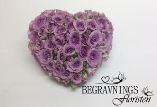 Litet hjärta - Lila rosor (enligt bild)
