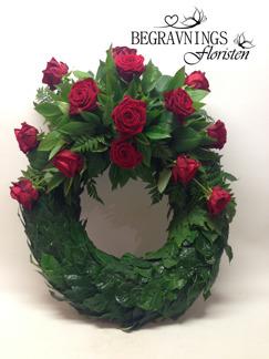Krans - Röda rosor (enligt bild)