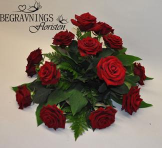 Runt arrangemang - Röda rosor (enligt bild)