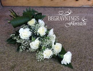 Begravningsbukett - Vita (enligt bild)