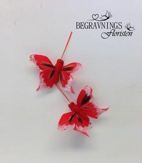 Fjärilar - Fjäril röd