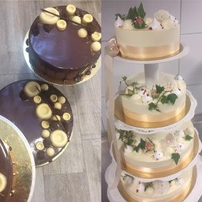 Jultårta - Mandel och vitchoklad