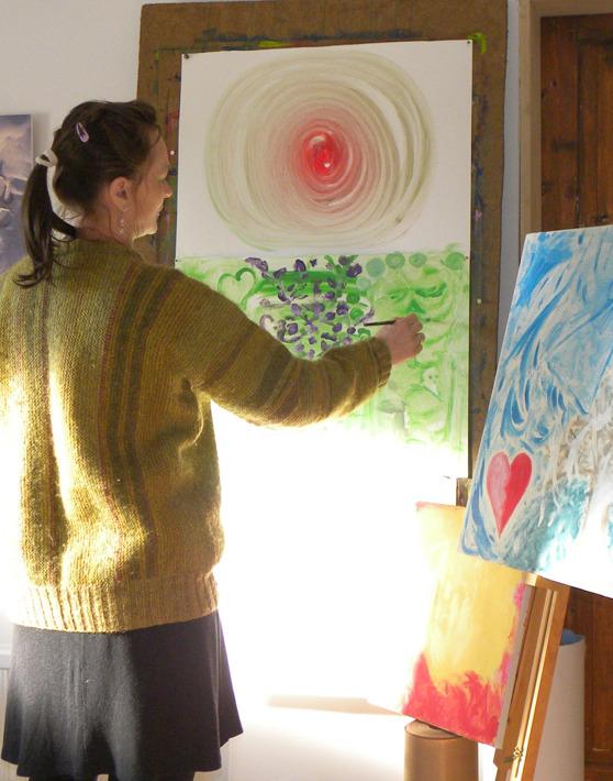 Drömkurs i Falkenberg, Halland. Drömkurser enligt Ullmans metoden med Yvonne Roobol utanför Falkenberg. Vi träffas & delar våra drömmar, målar & reflekterar över drömmen.