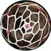 Hårnät med stenar - Beige m rosacerisa stenar